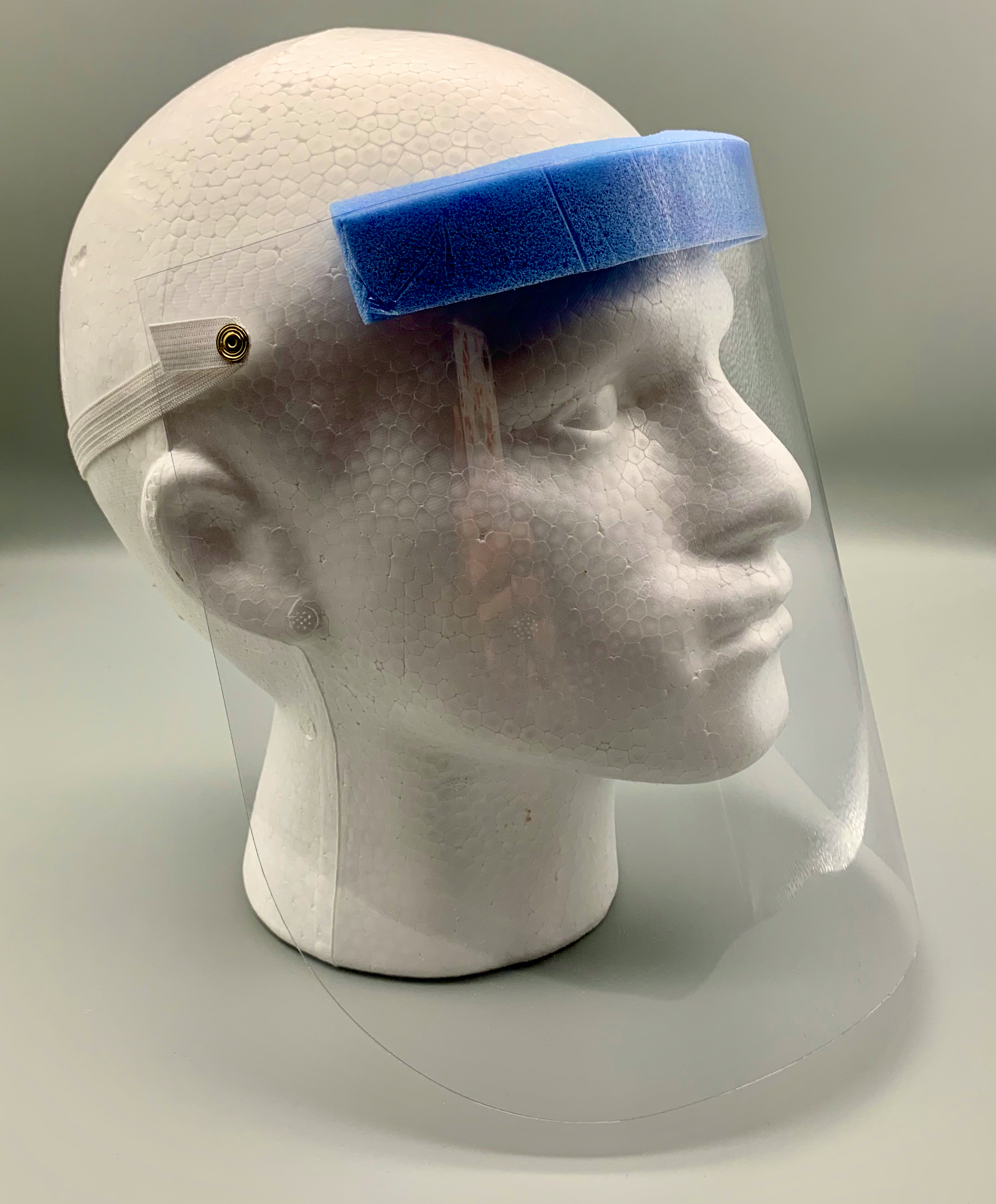 standard face mask side profile